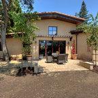 Lakeside Outdoor Living Room Mediterranean Patio