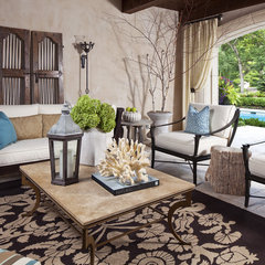 mediterranean patio by Martha O'Hara Interiors
