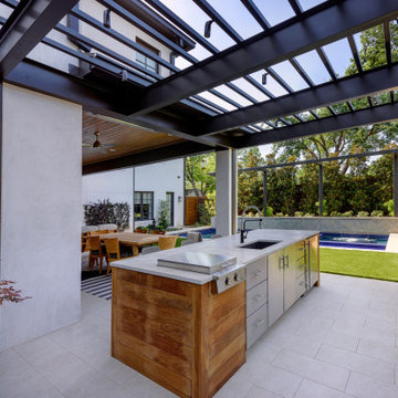 Metal Roof Extension Outdoor Entertain Areas