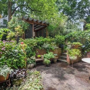Example Of A Classic Backyard Brick Patio Design In New York