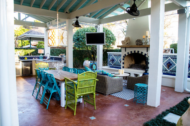 Beach Style Patio by Mullin Landscape Associates, LLC