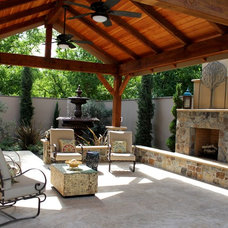 Mediterranean Patio by Michael Glassman & Associates