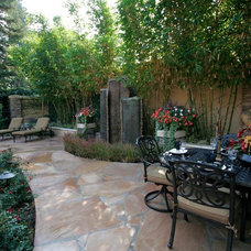 Eclectic Patio by Michael Glassman & Associates