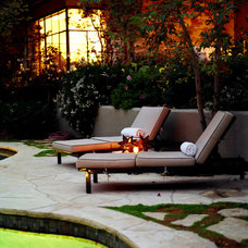 Eclectic Patio by Christopher Gaona Design Studio
