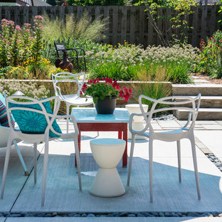 Inspiration for a mid-sized 1960s backyard concrete patio remodel in Milwaukee