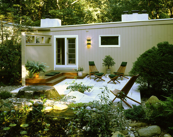 Midcentury Exterior by Patricia B. Warren, AIA   Warren Architecture, LLC