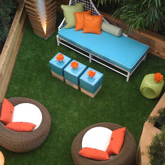 modern patio Mid century patio