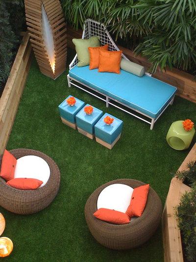 Contemporary Patio Mid century patio