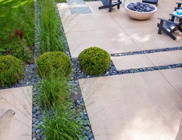 Mid century Vibe Concrete Patio - Bayside
