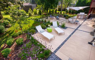 Inside Houzz: Soft Geometry in a Modern Wisconsin Garden
