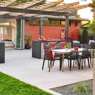 Inspiration for a midcentury patio in Denver.