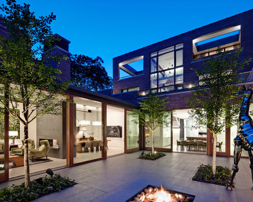 Courtyard home design ideas pictures remodel and decor for U shaped home designs