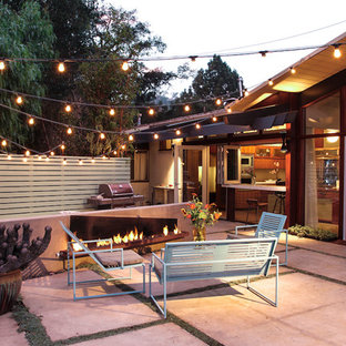 Example Of A 1960s Backyard Patio Design In Santa Barbara