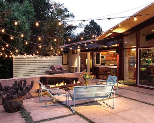 Attractive Example Of A 1960s Backyard Patio Design In Santa Barbara