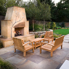 Contemporary Patio by Sally Stoik Landscape Architect