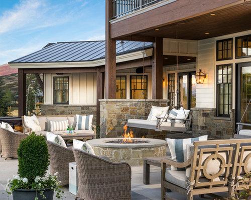 Farmhouse patio design ideas remodels photos houzz for R furniture arroyo grande