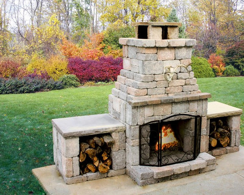 Outdoor Fireplace Kits Home Design Ideas