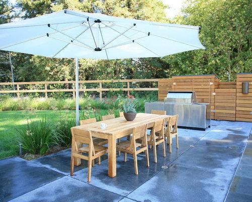 Design Ideas For A Large Modern Full Sun Backyard Concrete Paver  Landscaping In San Francisco.