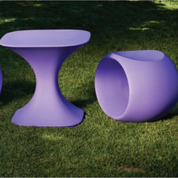 Milo Outdoor Stools - The Milo stool is made of molded polyethylene and is available in several colors.