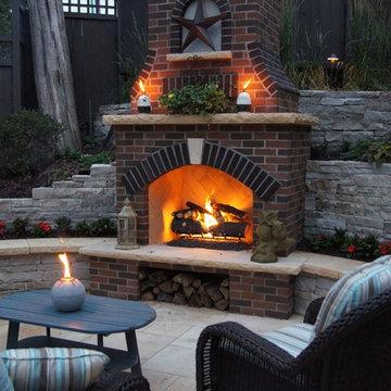 Minneapolis Outdoor Fireplace & Pool