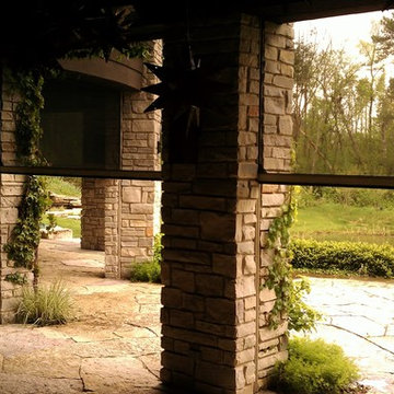 Mirage Motorized Screens On Beautiful Expansive Outdoor Patio