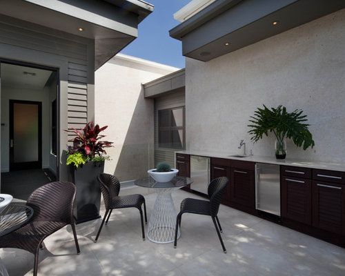 Inspiration For A Contemporary Patio Kitchen Remodel In Orlando