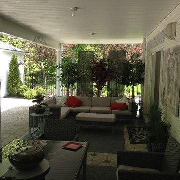 Modern Asian Inspired Backyard