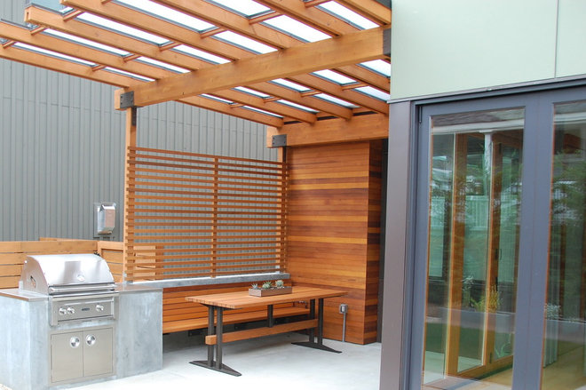 Modern Patio by Salmon Bay Woodworks