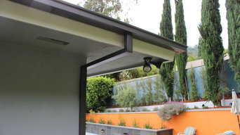 Modern Box Style Rain Gutters with 2x3 Downspouts in West Hollywood