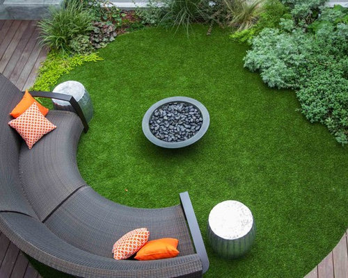 Best balcony with artificial grass design ideas remodel pictures houzz - Deco de jardin moderne nimes ...