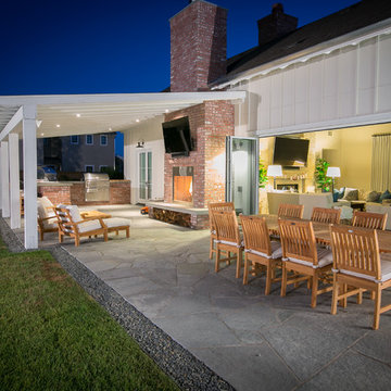 Modern Farmhouse With Traditional Accents - Outdoor Dining Area
