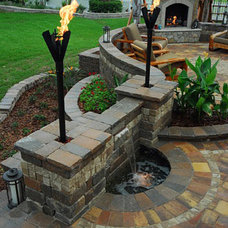 Beach Style Landscape by Fireplace & Gas Services, Inc.