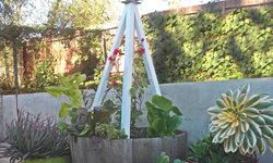 Modern garden wildlife trellis by TerraTrellis
