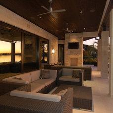 Modern Patio by Rachel Mast Design