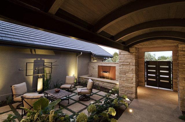 Eclectic Patio by Splittgerber Professional Builders
