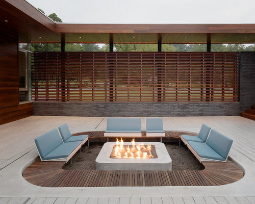 Recessed Fire Pit Home Design Ideas Renovations Photos