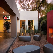 Eclectic Patio by Maienza - Wilson Interior Design + Architecture