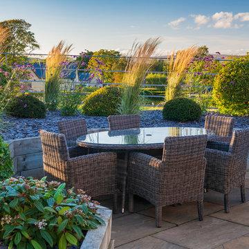 Modern, rural planting design. Menston, West Yorkshire
