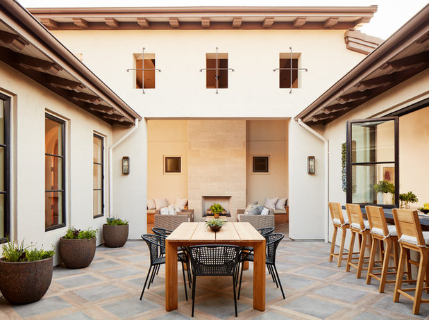 Mediterranean Patio by SDG Architects