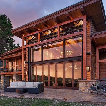 Modern Timber Frame Lake Home - Georgetown Lake Residence