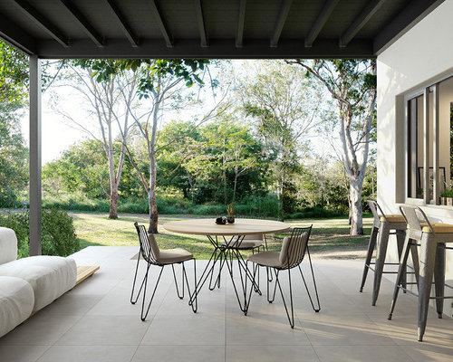 This Is An Example Of A Mid Sized Contemporary Patio In Brisbane With A  Pergola