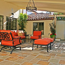 Mediterranean Patio by J. Grant Design Studio
