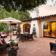 Mediterranean Patio by Lindsey Adams Construction Inc.