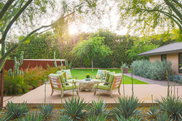 Midcentury Patio by Tracy Lynn Studio