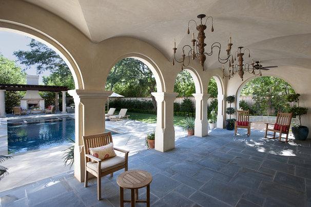 Mediterranean Porch by V Fine Homes