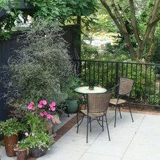 Eclectic Patio by Brooks Kolb LLC Landscape Architecture