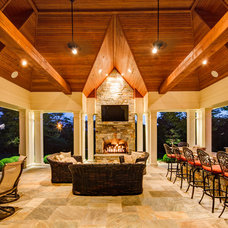 Traditional Patio by Donachy Architects