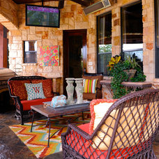 Traditional Patio by Lawanna Wood Designs