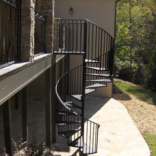 Traditional Staircase by ARNOLD Masonry and Landscape