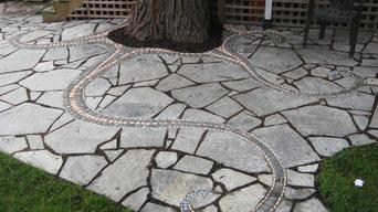 Mosaic and Flagstone Patio